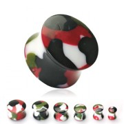 Piercing plug camouflage militaire