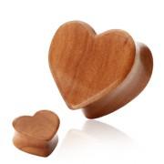 Piercing plug coeur bois mérisier
