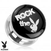 """Piercing plug écarteur en acier Playboy """"Rock the Bunny"""""""