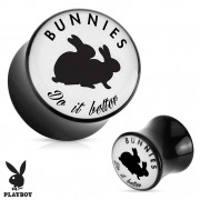 "Piercing plug écarteur Playboy ""Bunnies Do It Better"""