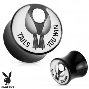"Piercing plug écarteur Playboy ""Tails You Win"""
