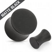 Piercing plug en acier noir mat