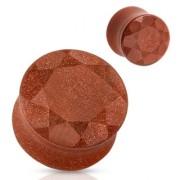 Ecarteur plug en pierre Golden sand à facettes