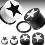Piercing plug logo étoile