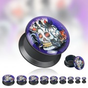 Piercing plug logo Squelette Poker