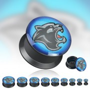 Piercing plug Panther noire