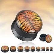 Piercing plug peau de tigre