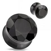 Piercing plug pierre semi-précieuse Agate facettée