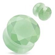 Piercing plug pierre semi-précieuse Aventurine verte facettée