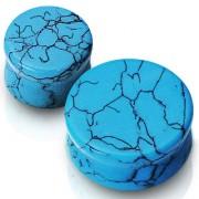 Piercing plug pierre semi-précieuse Turquoise