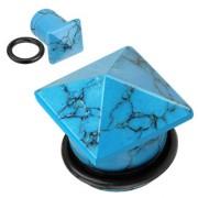 Piercing plug pierre semi-précieuse Turquoise en pyramide