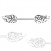 Piercing téton avec ailes serties