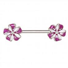 Piercing téton à fleurs de vent