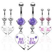 Piercing nombril coeur meilleures amies