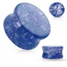 Plug en verre bleu aspec brisé
